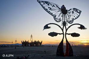 Lovers share a sunset on top of the Wings. Portal of Evolutionby Bryan Tedrick, Glen Ellen, CA
