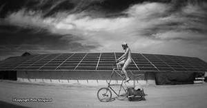 Snokoan solar camp and doubledecker bike
