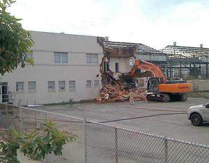 The old Burning Man office at 1900 3rd Street in San Francisco was demolished in December, 2009.