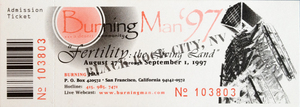 Burning Man 1997: Fertility event ticket
