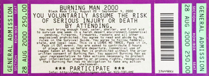 Burning Man 2000: The Body event ticket