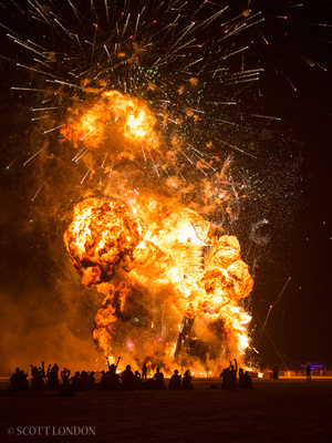 The Man explodes, 2014 (Photo by Scott London)