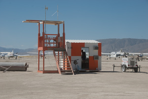 Ramp Dog Tower at BRC Municipal Airport, 2015 (Photo by Susan Becker)