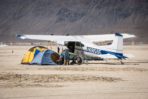 Plane Camping at the BRC Municipal Airport , 2015 (Photo by Susan Becker)