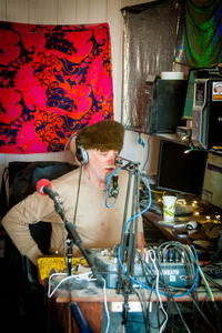 Rusty Rebar Broadcasts at BMIR, 2015 (Photo by Susan Becker)